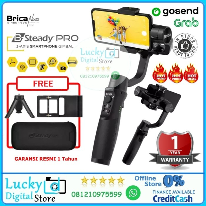 Jual Brica B Steady Pro 3 Axis Stabilizer For Smartphone Action