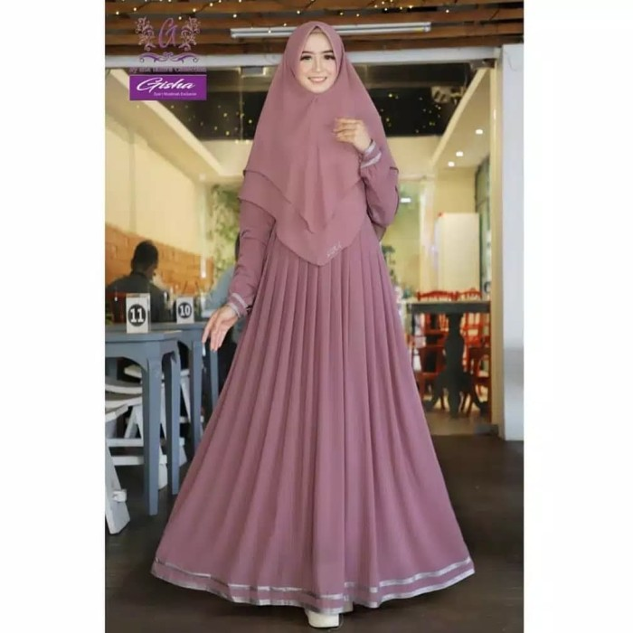 Foto Produk baju gamis wanita terbaru / gamis syari plus hijab dari A&A fashion olshop
