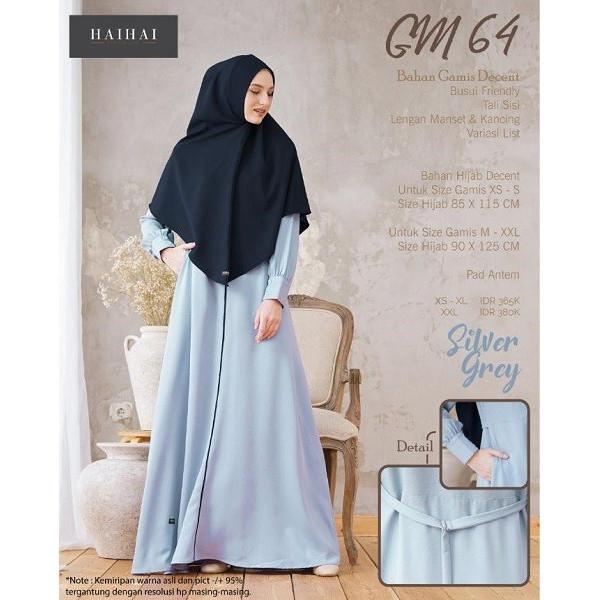Jual Baju Gamis Hijab Syari Muslimah Hai Hai Gm 64 Olive Green Xs Kota Depok Raja Baju Muslim Tokopedia