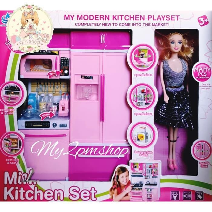 Jual Mini Kitchen Set Barbie Mainan Anak Perempuan Kado Ultah Kota Tangerang Selatan James Buddiono Tokopedia