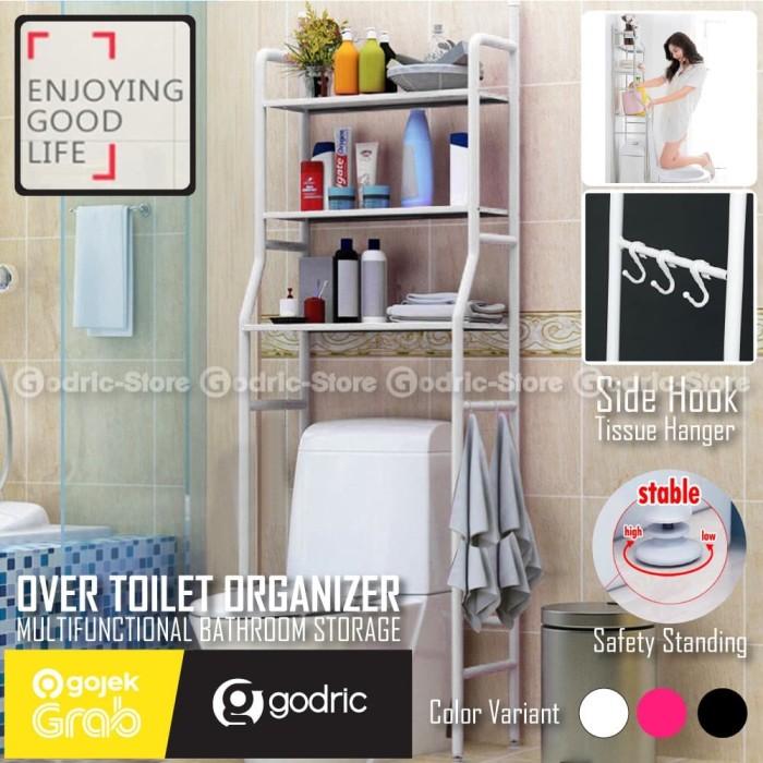 Foto Produk Rak Toilet Organizer WC Tissue Sabun Kloset Kamar Mandi 165 x 50 x 26 - WHITE dari Godric Store