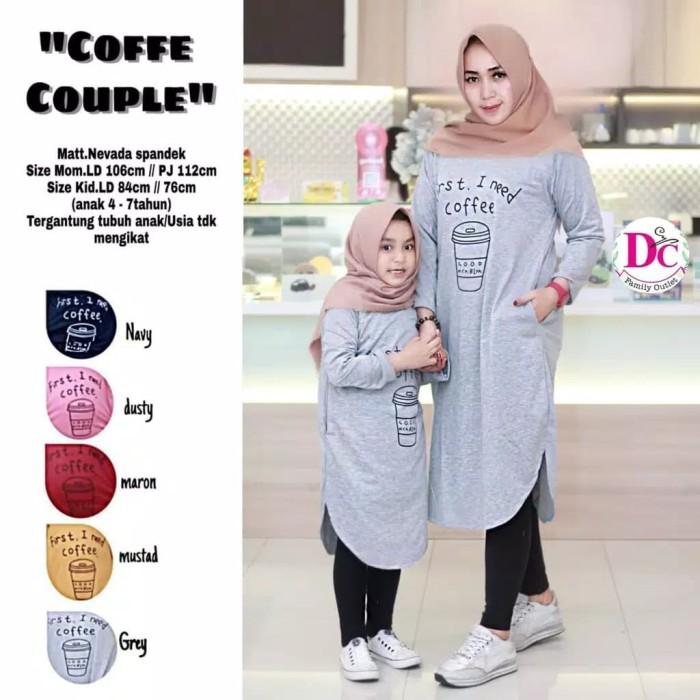 Foto Produk Couple Tunik Mom XL and Kids 7 Th Bahan Kaos Nevadaa Spandek dari pusat busana