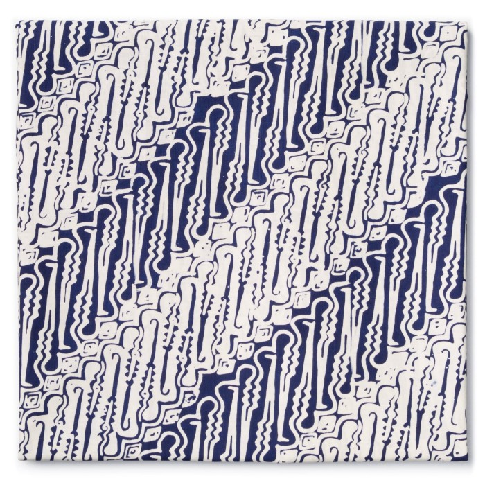 Foto Produk Kain Batik Cap Kelengan Motif Parang Curigo - Biru dari Kainusa