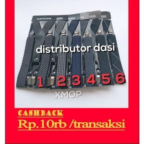 Foto Produk suspender kaki capit 4 lebar 3,5 cm motif ready stok distributor dasi dari Distributor Dasi