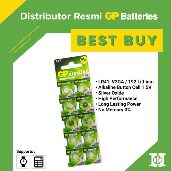 Foto Produk Baterai Kancing 192/LR41/V3GA Alkaline GP Original dari Hayashi Indonesia