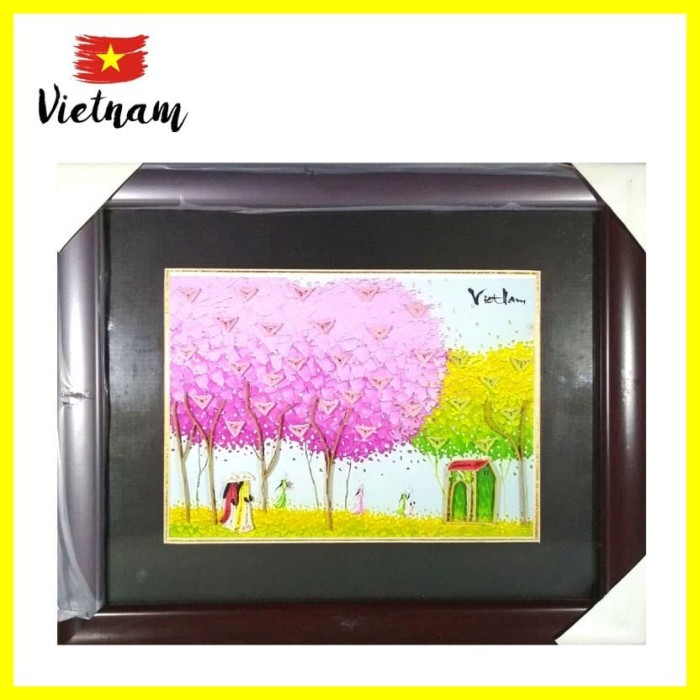 Foto Produk Souvenir Mancanegara Dekorasi Bingkai Foto Photo Frame PinkTre Vietnam dari Iyesh Online Store