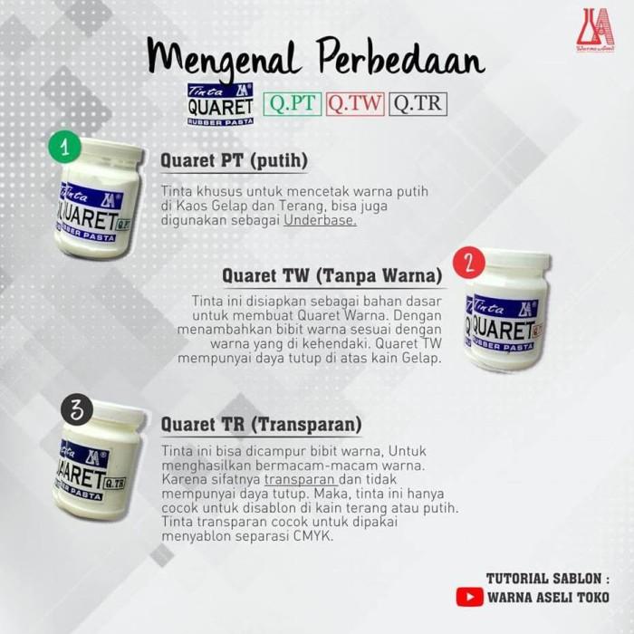 Jual Sale Cat Sablon Quaret Warna Putih Tw Atau Tr 1 Kg Jakarta Selatan Helidon Ethav Tokopedia