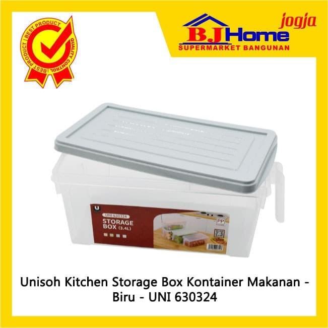 Jual Kitchen Storage Box Unisoh Kontainer Makanan Blue Uni