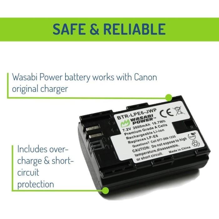 Foto Produk Wasabi Power Baterai Canon LP-E6, LP-E6N, EOS 5D, 6D, 7D, 60D, 70D dari Wasabi Power Indonesia