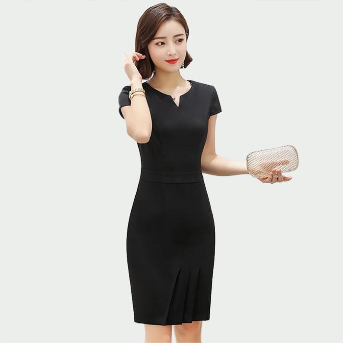 Foto Produk Okechuku SOENA Midi Dress Wanita Korea / Body Fit Dress / Baju Pesta - Hitam dari Okechuku