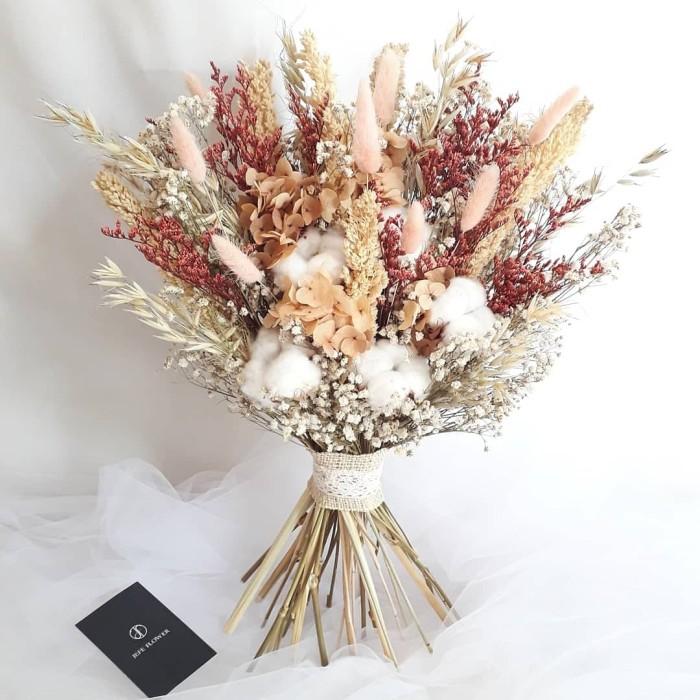 Jual Caspea Maroon Wedding Bouquet Dried Flower Wedding Bouquet Buket Kab Sleman Jefe Flower Gift Tokopedia