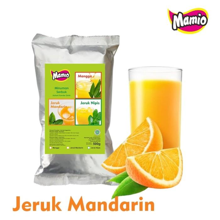 Foto Produk Bubuk Minuman Rasa Jeruk / Orange Mamio Mixed kemasan 500gr dari CV. Herbal House Lestari