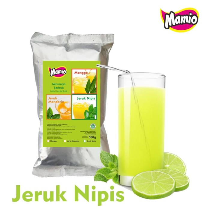 Foto Produk Minuman Sari Jeruk Nipis Mamio 500 gram   Serbuk Minuman Jeruk Nipis dari CV. Herbal House Lestari