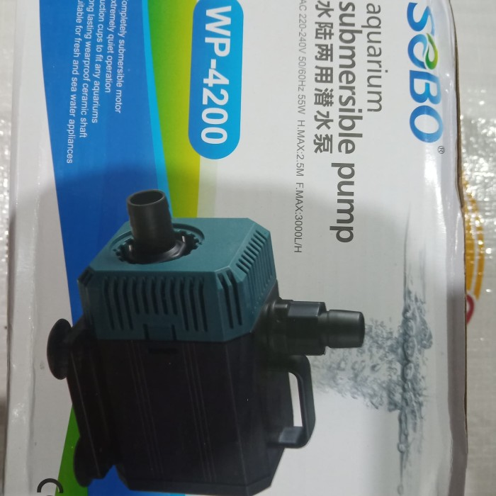 Jual aquarium pompa celup water pump SOBO WP 4200 canister ...