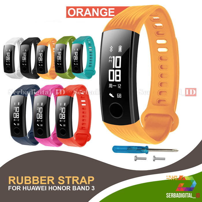Foto Produk Costa RUBBER STRAP FOR HUAWEI HONOR BAND 3 - Orange dari serbadigital-id