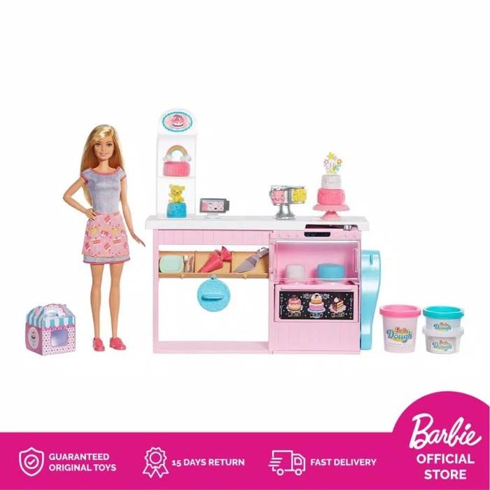Jual Boneka Barbie Mattel Cake Decorating Doll Pembuat Kue Bakery Playset Kota Tangerang Selatan Top Mainan Tokopedia