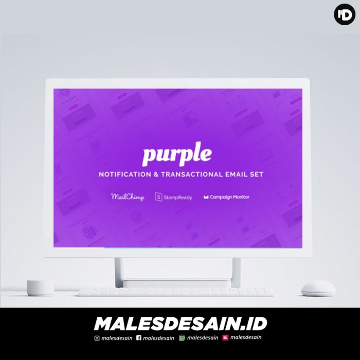 Foto Produk Purple v1.0.1NotificationTransactional Email Templates-Malesdesain dari malesdesain