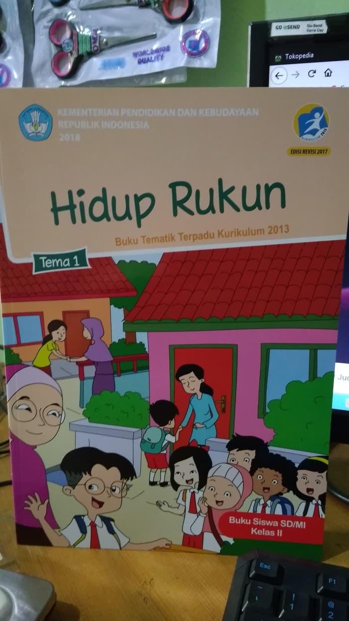 "Jual Buku Baru TEMATIK TERPADU TEMA 1 ""HIDUP RUKUN"" SD KELAS 2 Jakarta Barat PanduNarpati"