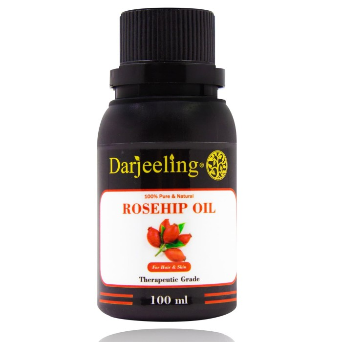 Foto Produk 100ml Virgin Rosehip Oil Cold Pressed | Minyak Biji Mawar Carrier Oil dari Darjeeling Store