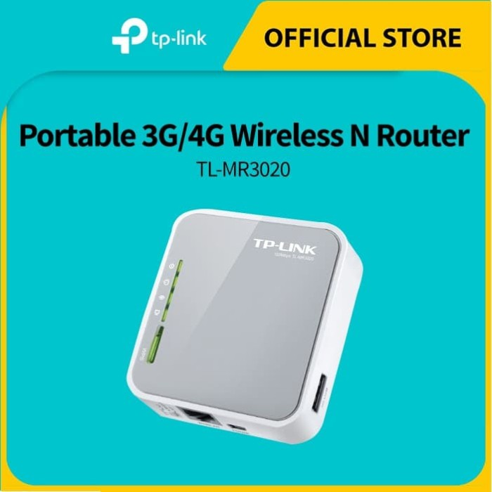 Foto Produk TP-LINK TL-MR3020 Portable 3G/4G Wireless N Router - White dari TP-Link Official