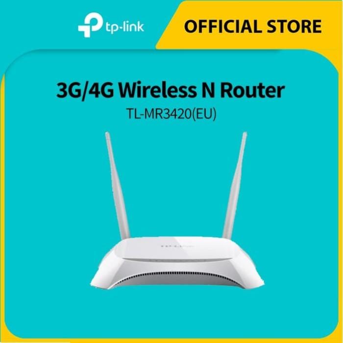 Foto Produk TP-LINK TL-MR3420 300Mbps 3G/4G Wireless N Router - White dari TP-Link Official