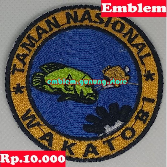 Jual Emblem Taman Nasional Wakatobi Kab Bekasi Emblem Gunung Store Tokopedia
