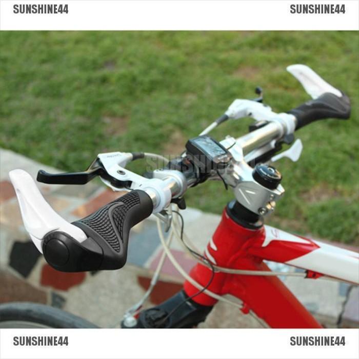 1Pair MTB Bike Handlebar Grips For Bar Ends Rubber Cycling Bike Handlebar Grips