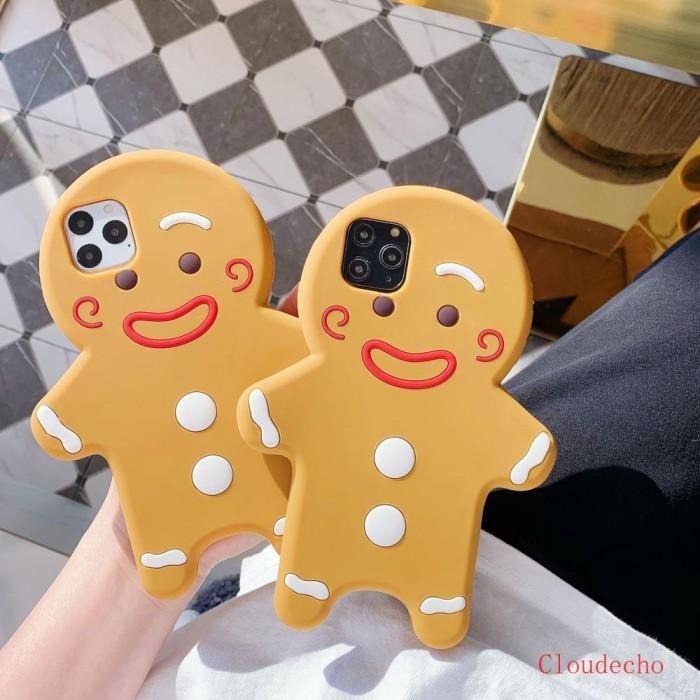 Jual Baru Casing Silikon Motif Kartun Gingerbread Man Untuk Iphone