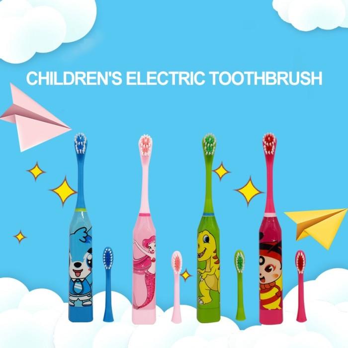 Jual Lucu Sikat Gigi Elektrik Lembut Motif Kartun Untuk Anak