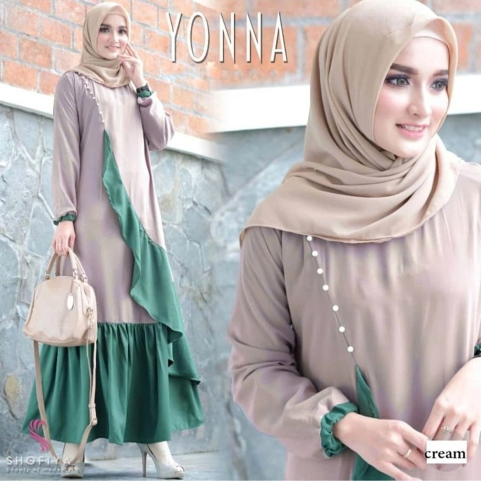 Jual Gamis Yonna Gamis Bagus Modern Busana Muslim Wanita Kota Pekalongan Sahfa Batik Pekalongan Tokopedia