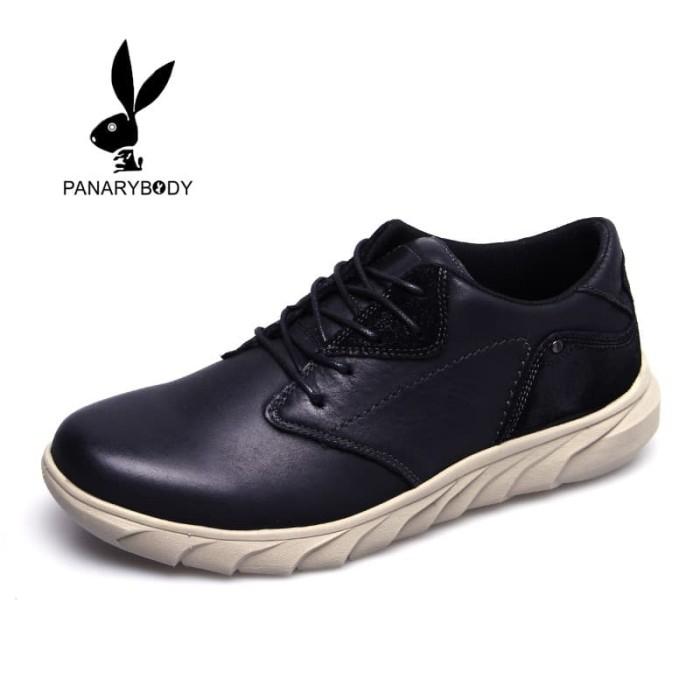 Sepatu Casual Kulit Pria Sepatu Lari Harian Mode Rendah