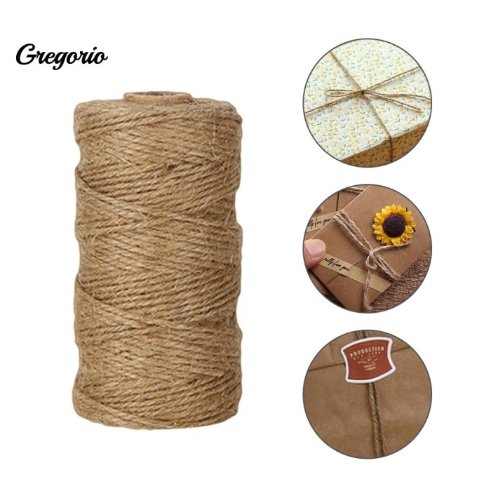 For Arts Craft Gift DIY 100m Natural Jute Burlap Hemp Twine String Cord Rope New