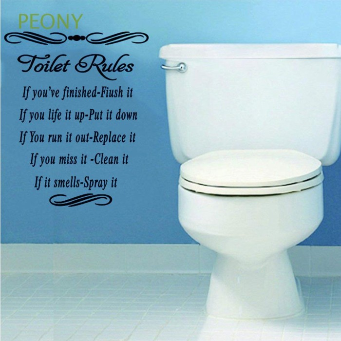 Jual Cantik Peony Vinyl Washroom Home Decor Bathroom Wall Art Wall Jakarta Pusat Bestbrandstore 1 Tokopedia