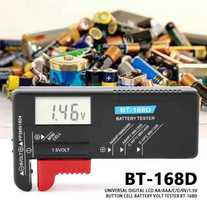 NEU LCD Battery Tester Volt Checker For 9V 1.5V AA AAA Cell BT-168D Useful