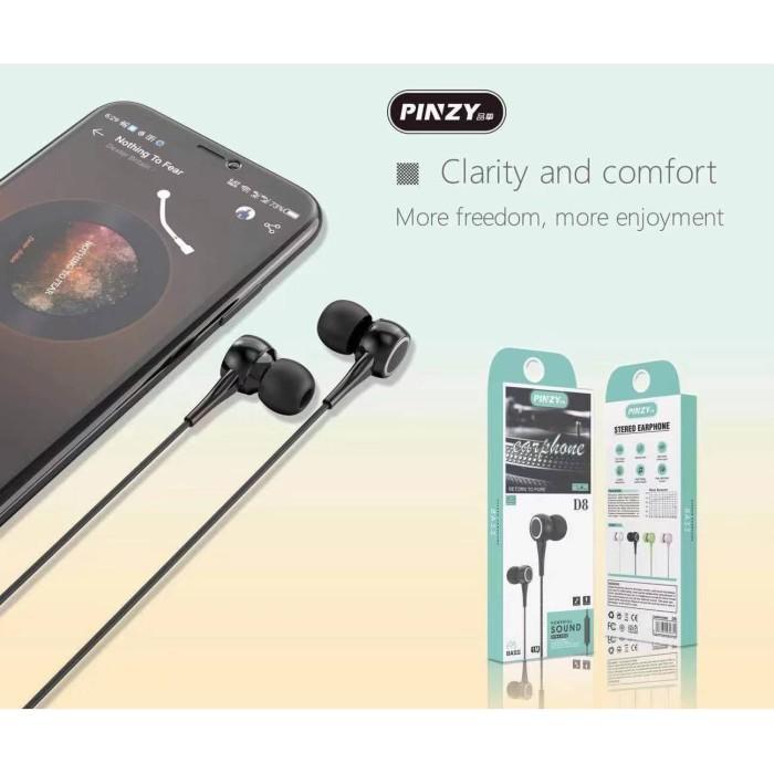 Foto Produk Headset / Earphone Original Pinzy D8 Series - Merah Muda dari PINZY Official Store