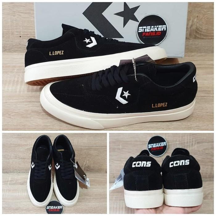 Jual Sepatu CONVERSE LOPEZ PRO BLACK SUEDE PREMIUM VIETNAM Kota Bandung Sneakerfans.id   Tokopedia