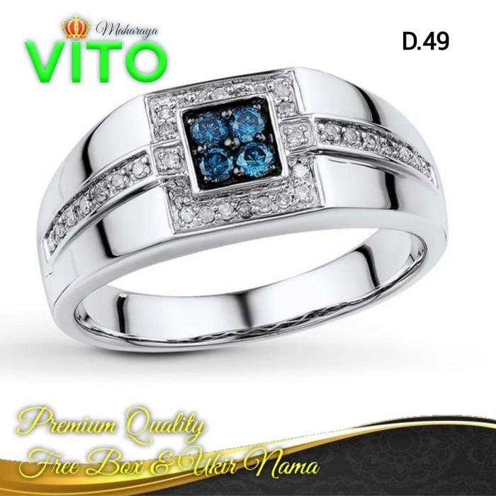 Jual Terbaru Cincin Pria Emaban Cincin Perak Blue D 49 Kab Bantul Vito Maharaya Tokopedia