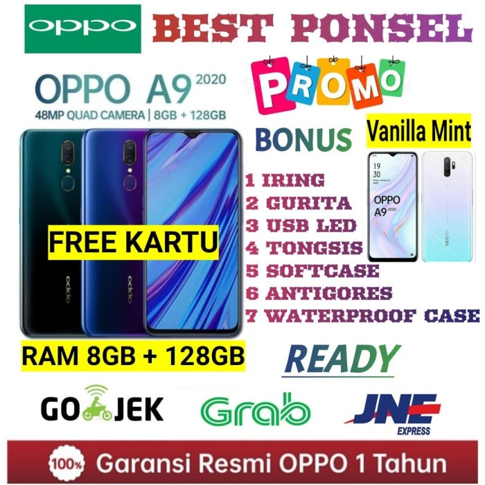 Foto Produk OPPO A9 2020 RAM 8/128GB GARANSI RESMI OPPO INDONESIA - Putih No Bonus dari BEST PONSEL