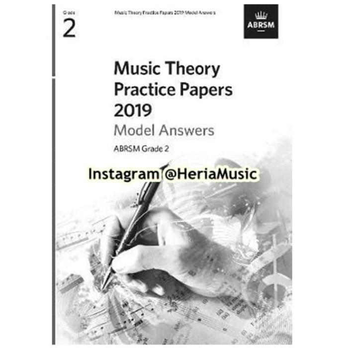 Foto Produk Music Theory Practice Papers 2019 Model Answers, ABRSM Grade 2 dari HERIA MUSIC