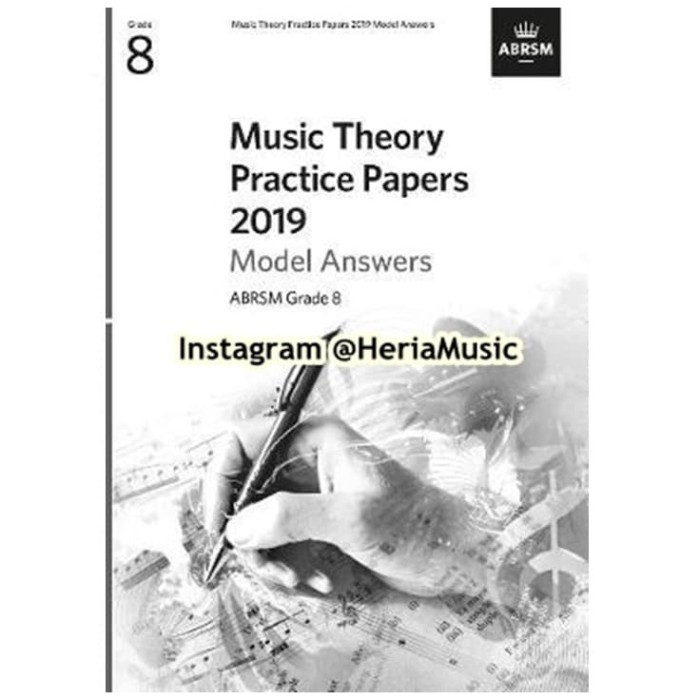 Foto Produk Music Theory Practice Papers 2019 Model Answers, ABRSM Grade 8 dari HERIA MUSIC