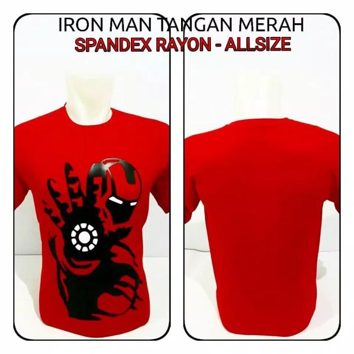 Jual Kaos Superhero Anime Cartoon Iron Man Tangan Terlaris Jakarta Pusat Firdaus Store88 Tokopedia