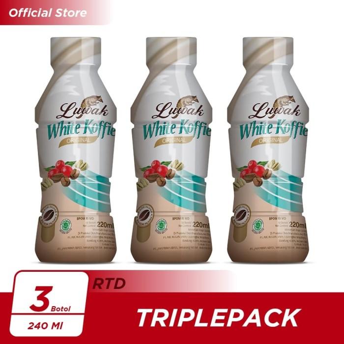 Foto Produk Kopi Luwak White Koffie Original Botol 220ml Triple Pack dari Kopi Luwak Official