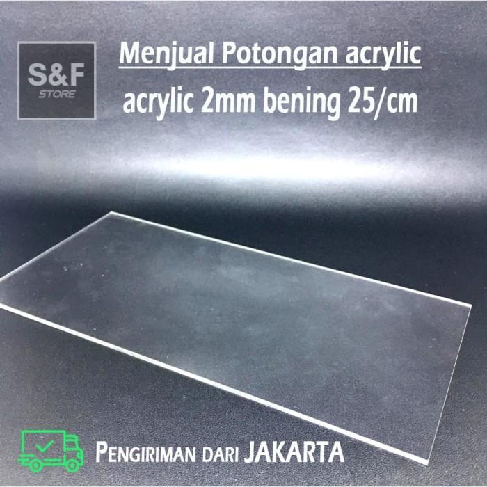 Foto Produk akrilik potongan 2mm bening / acrylic custom / akrilik lembaran / mika dari snf_store15