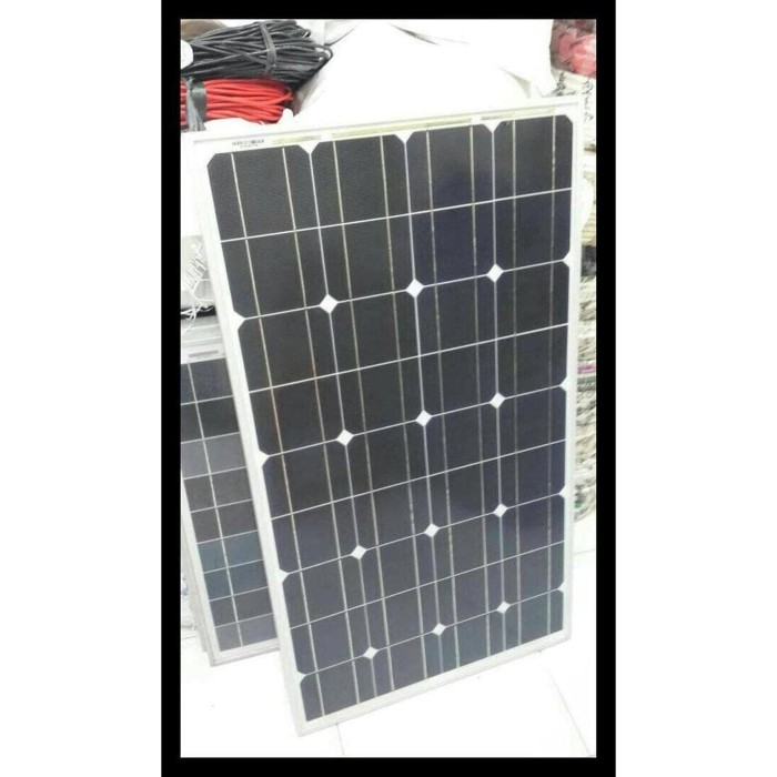 Foto Produk Solar Panel Panel Surya Solar Cell Hoya 80Wp Mono 12V Terbaik pas dari dariusstore0155