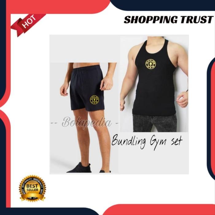 Foto Produk Kaos olahraga gym fitnes pria training ST07 dari Vebriyani Boy Bana