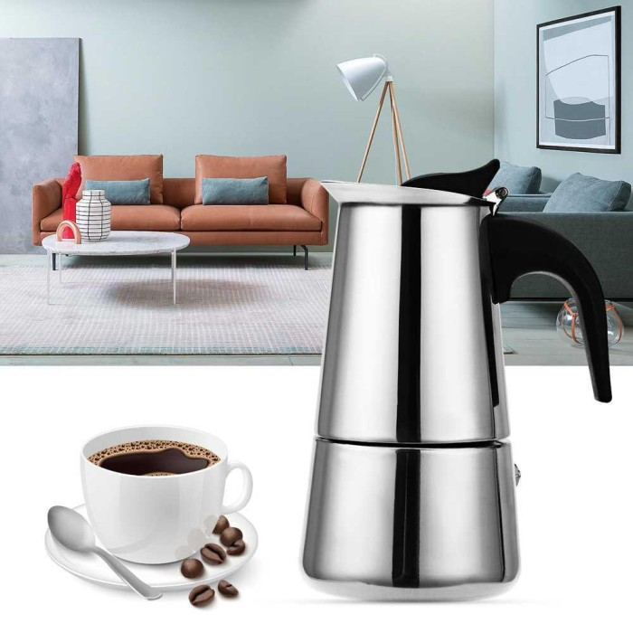 Foto Produk Murah - OneTwoCups Espresso Coffee Maker 300ml 6 Cup - Lapakstore dari Lapakstore[dot]net