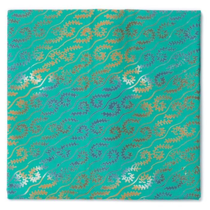 Foto Produk Kain Batik Cap Garut 3 Dimensi Motif Ganggang Liris Tosca dari Kainusa