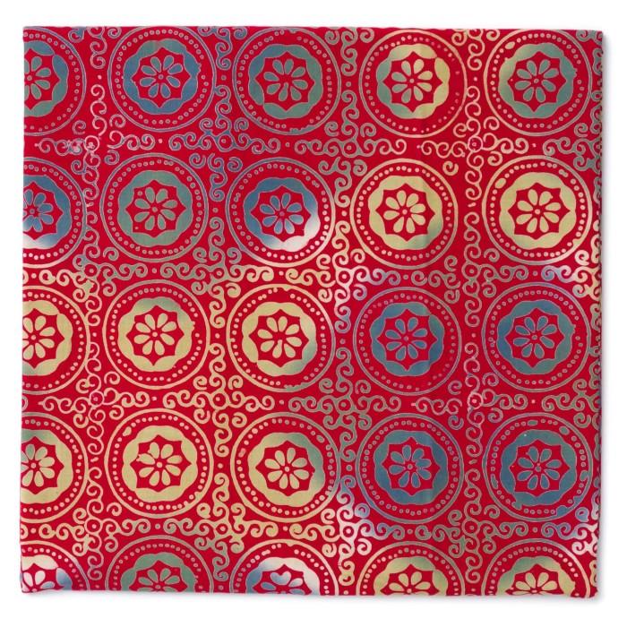 Foto Produk Kain Batik Cap Garut 3 Dimensi Motif Ceplok Koin Merah dari Kainusa