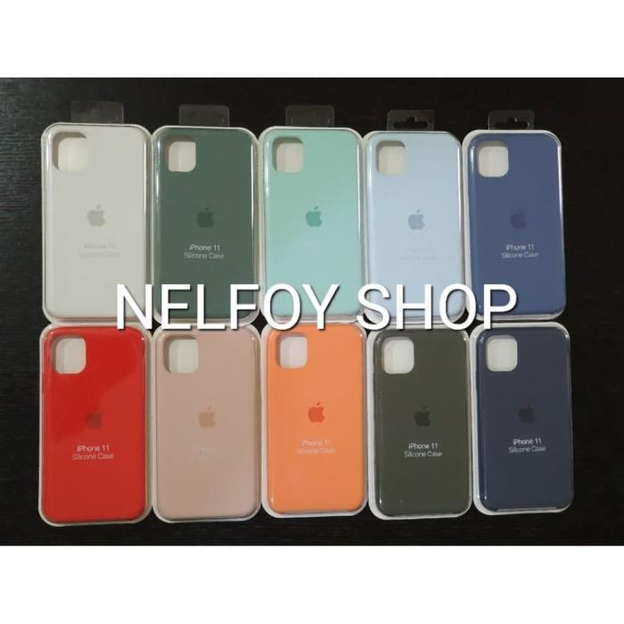 Foto Produk IPhone 11 Silicone Case Cover Hard Original Design Casing Hardcase dari Nelfoy Shop