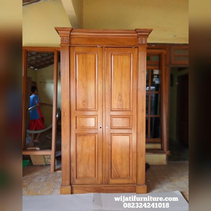 Jual Lemari Pakaian Jati Minimalis Lemari Pakaian Kayu Jati Murah Kab Jepara Wijati Furniture Tokopedia